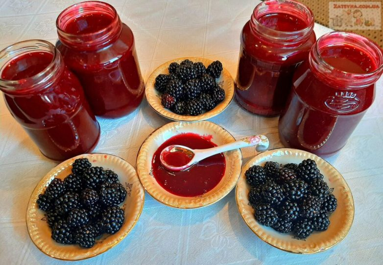 Желе из ежевики без варки ягод за 15 минут