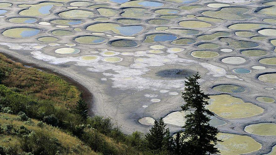25. Клилук (пятнистое озеро), Канада земля, красота, планета, природа