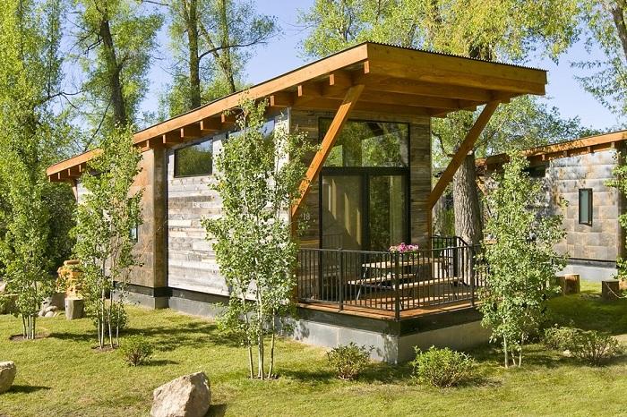 Wedge Cabin - дом площадью 37 кв.метров.