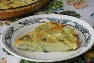Фото к рецепту: Наливной пирог из кабачков
