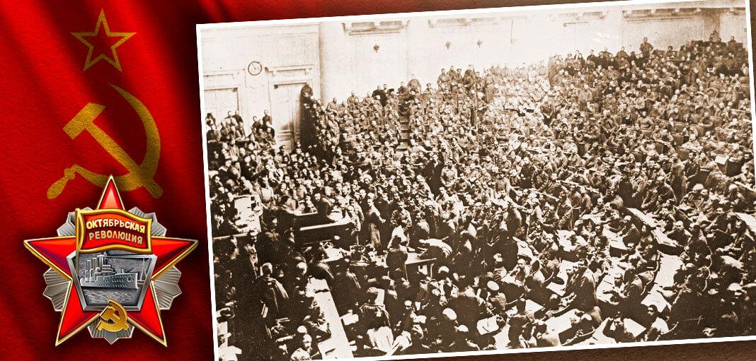 Первое заседание Совета рабочих и солдатских депутатов в Таврическом дворце в Петрограде. Коллаж: © HistoryLost.Ru. Фото: © РИА Новости