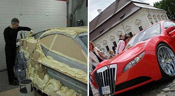 Реставрация старого автомобиля с помощью монтажной пены своими руками