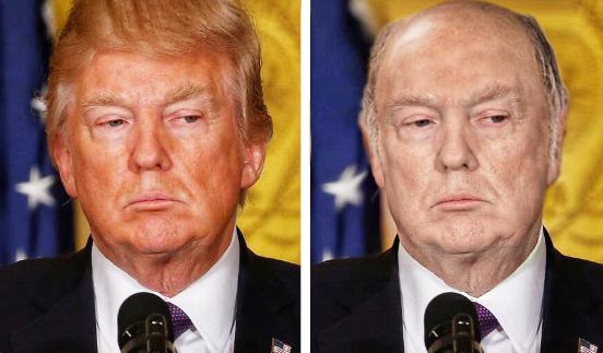 Лысый и бледнокожий Трамп стал настоящим посмешищем