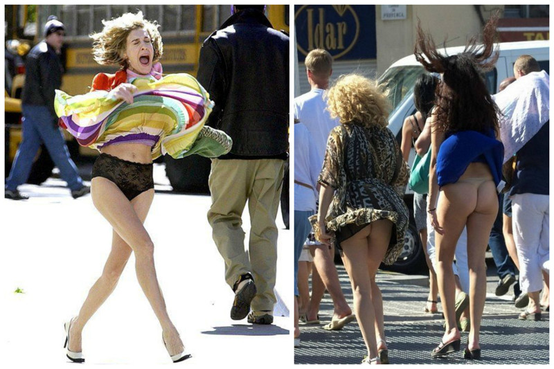 у поднять девушек юбки