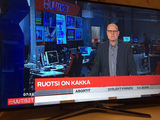 Швецию назвали какашкой в эфире финского госканала
