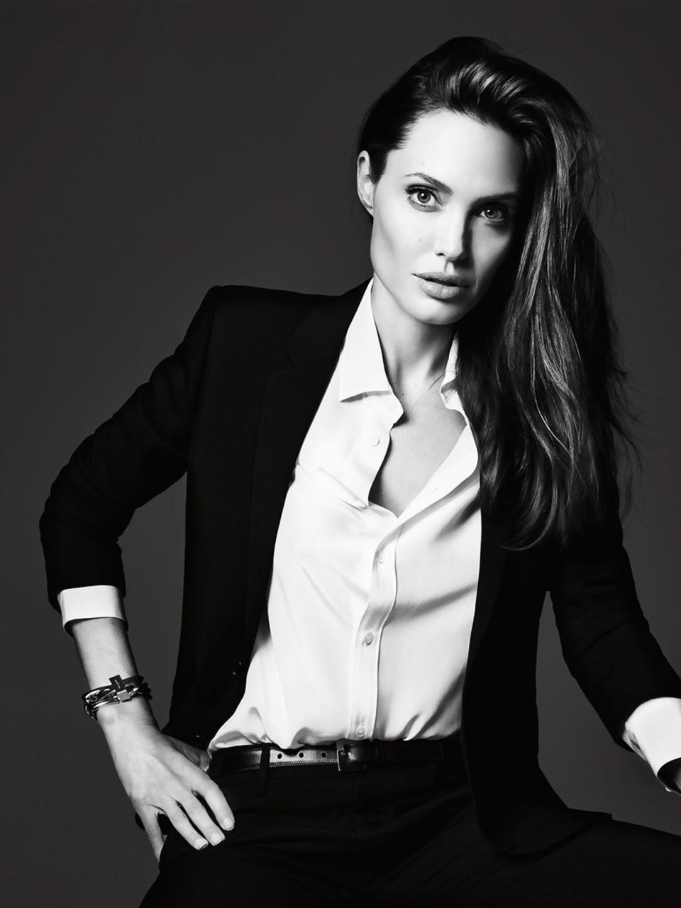Анджелина Джоли  в фотосессии Эди Слимана для журнала ELLE US июнь 2014