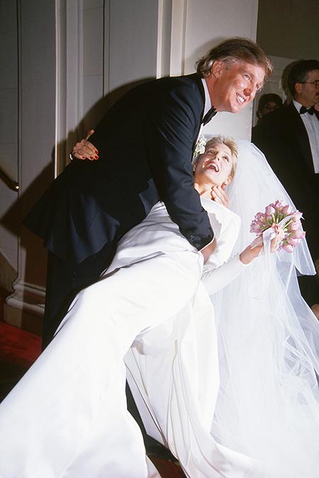 Свадьба Дональда Трампа и Марлы Мейплз, 1992 год