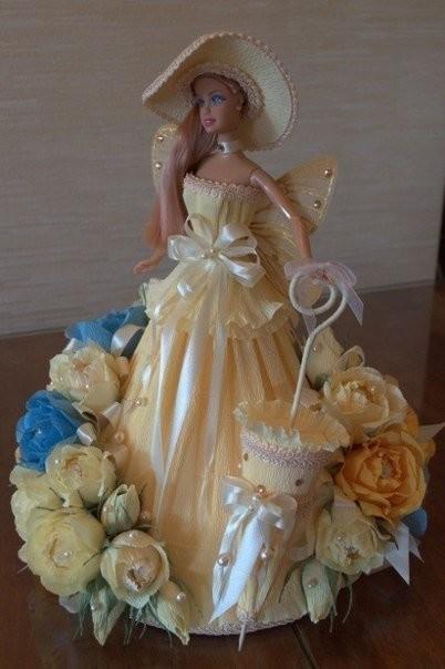Мастер класс букеты из конфет кукла