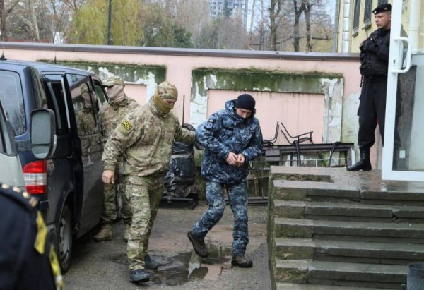 Задержанные украинские моряк…