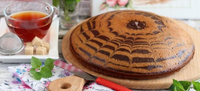 «Зебра» на кефире с растительным маслом