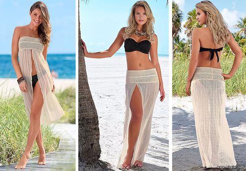 Пляжное юбка-платье