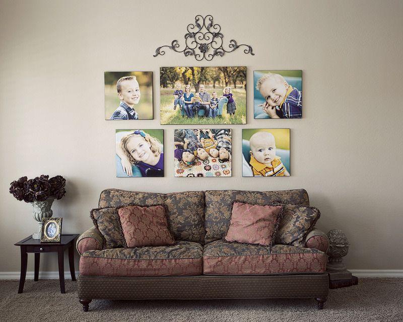 Оформление стены фотографиями: нескучные решения для интерьера