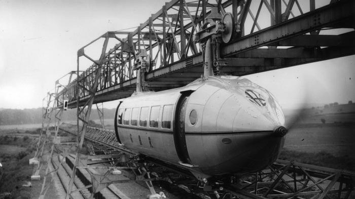 Задолго до Eurostar: «Летающие поезда» - проекты, которые опередили своё время