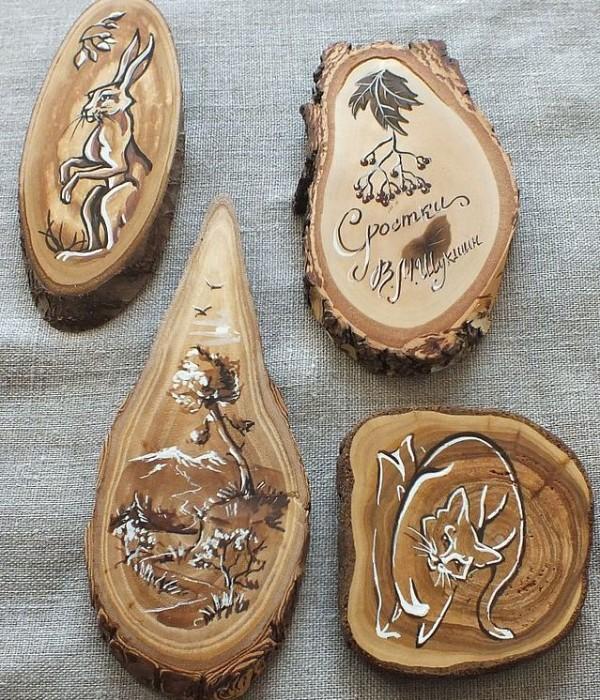 Поделки из спилов дерева своими руками мастер класс