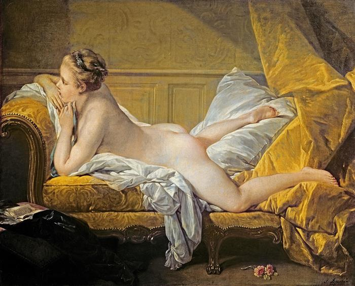 Франсуа Буше, *Светловолосая одалиска*. Для этой картины художнику позировала юная наложница короля  Луизон Морфи