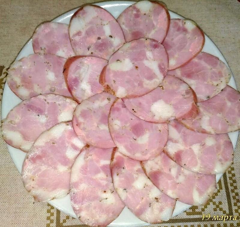 Колбаска рубленая, домашняя