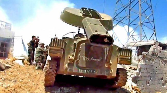 Российский «Змей Горыныч» выжигает боевиков в Дамаске (ВИДЕО)