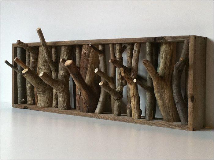 Оригинальные полки из дерева фото