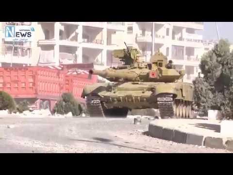 """Хорош зверюга!"": Танк Т-90 со «Шторой» ударил по боевикам в Алеппо"