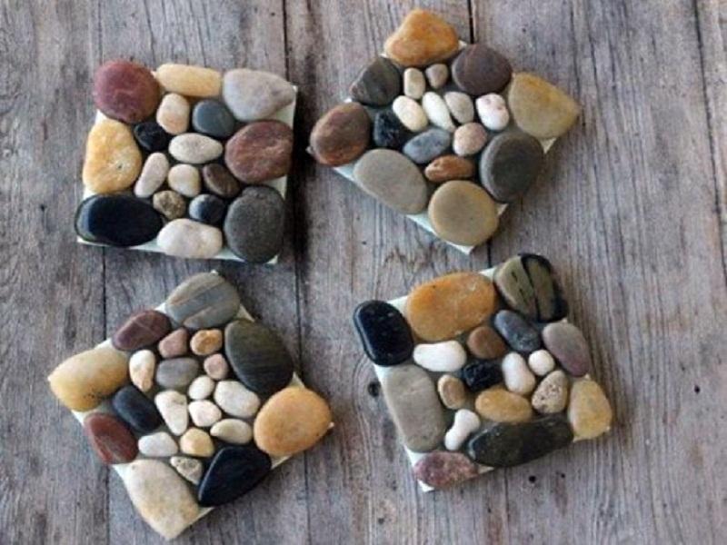 Декор из камней своими руками фото