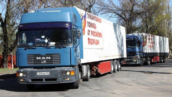 Очередные автомобильные колонны из России направились в сторону Донецка и Луганска