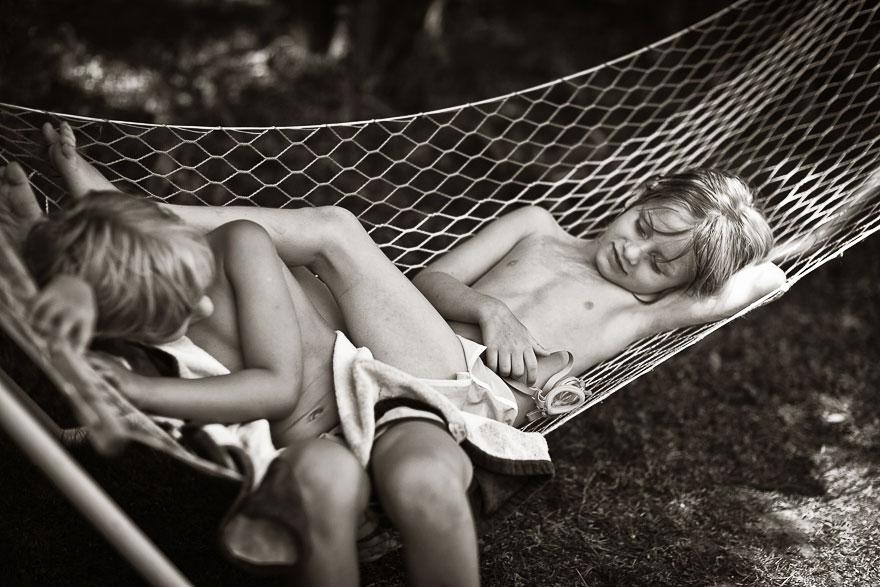 Летние каникулы в польской деревне - чёрно-белые фото-2