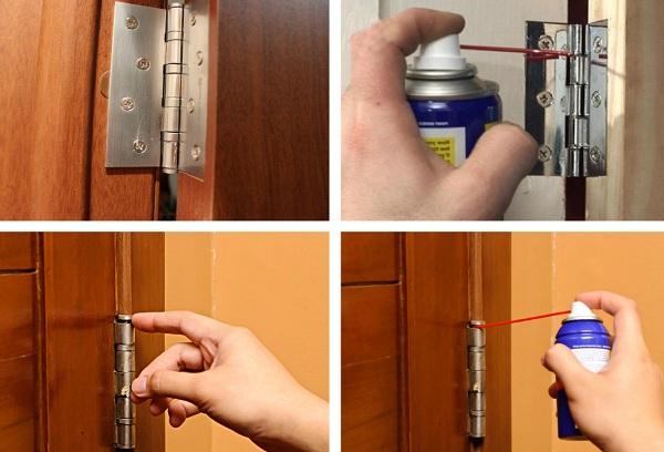 смазывание дверей в доме