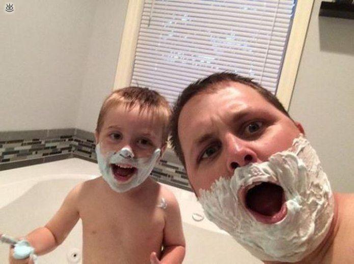С папой всегда весело!