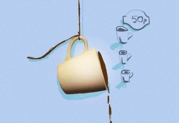История про подвешенный кофе