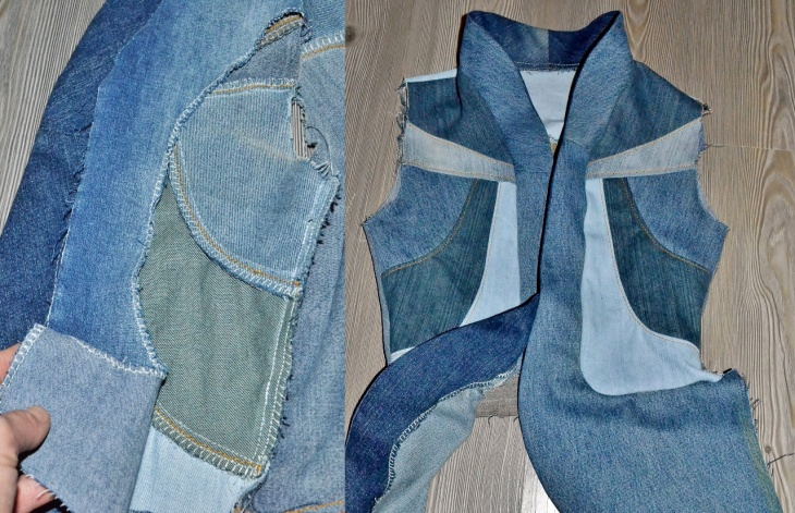 Как сшить джинсовую куртку своими руками из старых джинс
