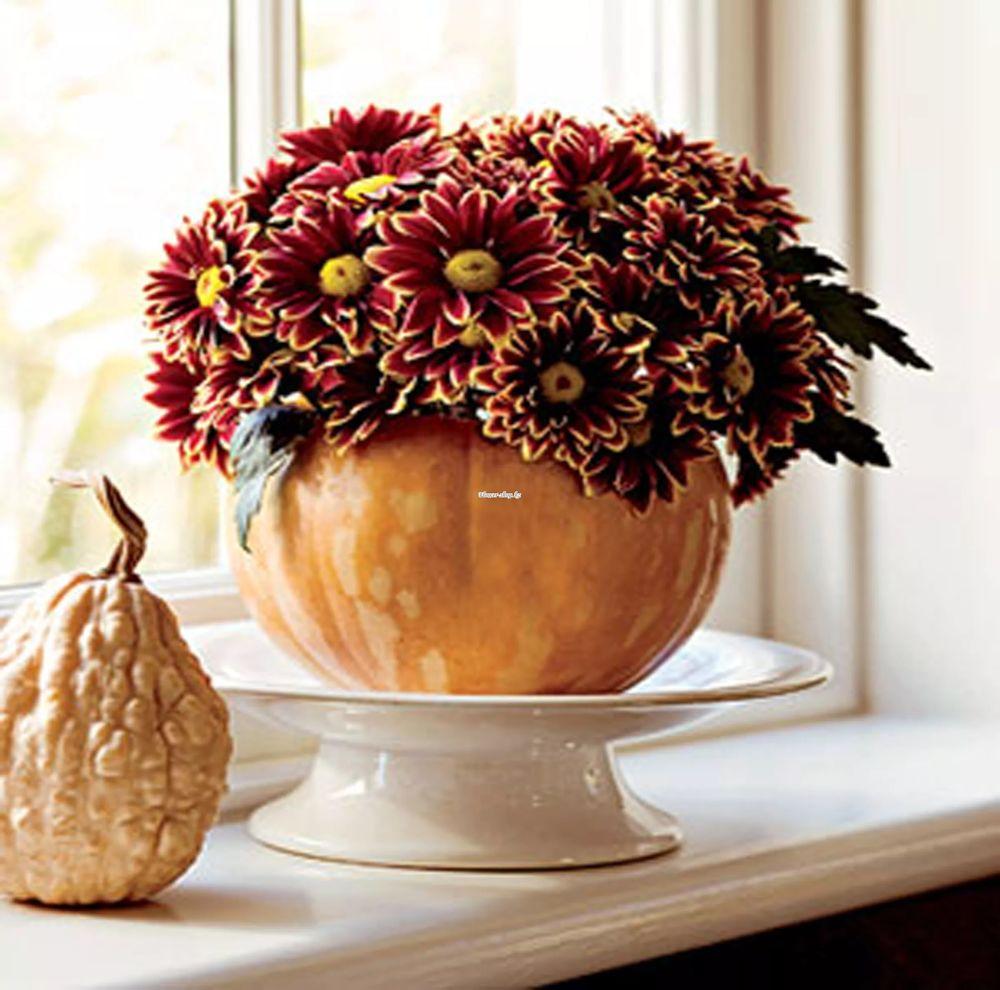 Поделка из цветов живых в вазе