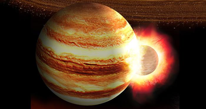 Юпитер: жертва древнего мегастолкновения?