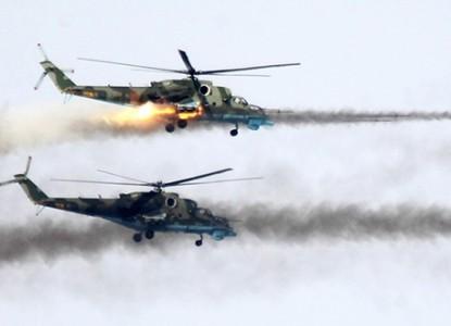 Эффектная работа российского Ми-35 в Сирии попала на видео