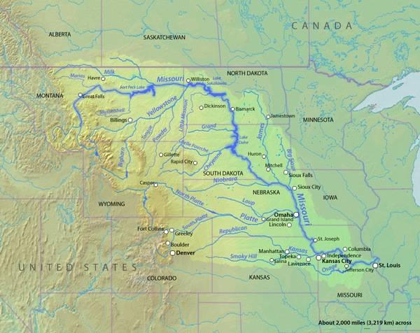 Миссисипи где находятся на карте