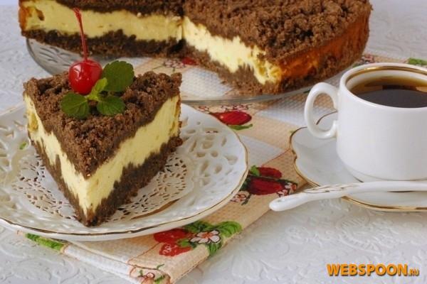 Фото Творожный торфяной торт