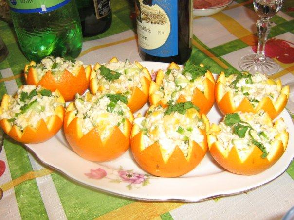Салаты с апельсином рецепт