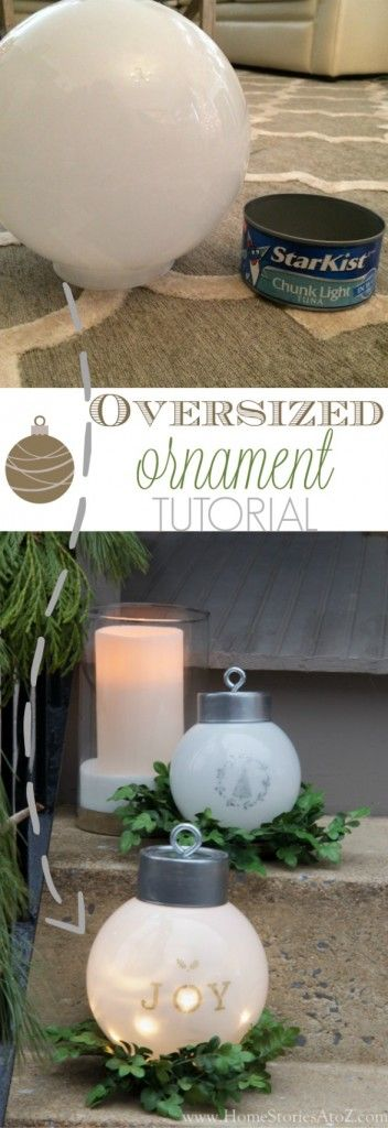 DIY Oversized Ornaments: