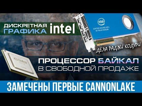 Видеокарты от Intel, российский процессор в продаже и ноутбук дешевле сборного ПК