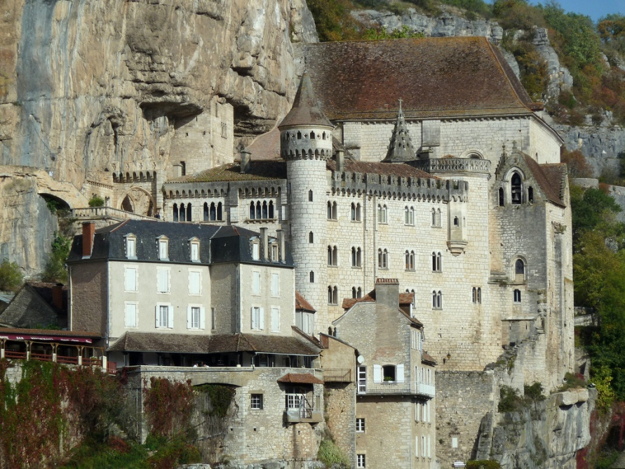 Rocamadour на юго-западе Франции