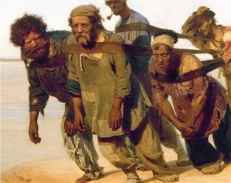 3. Подшишельные — ближайшие помощники шишки. «Бурлаки на Волге», интересное, репин