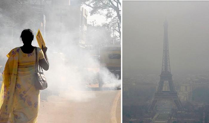 Смог-убийца: Жуткие фотографии того, как люди живут в городах с грязным воздухом
