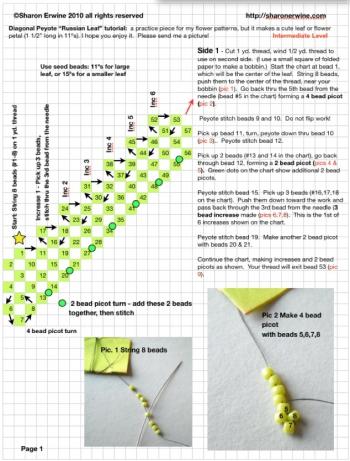 Мастер-класс по изготовлению разных видов листиков из бисера