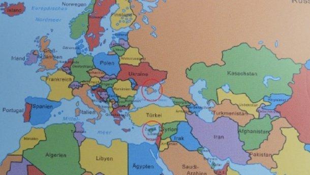 В ФРГ появился учебник с российским Крымом на карте