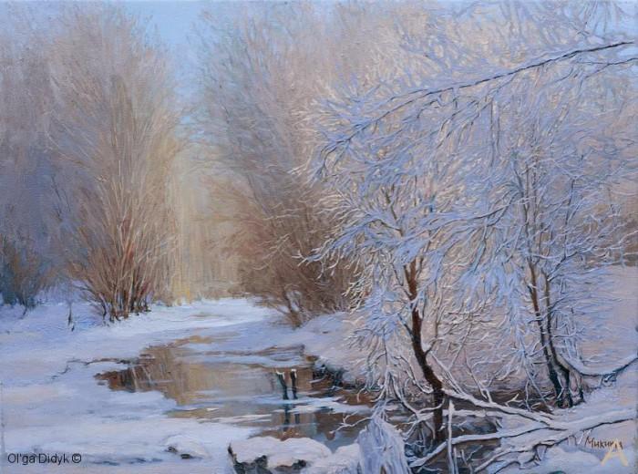 зимние пейзажи Ольга Дидык - 02