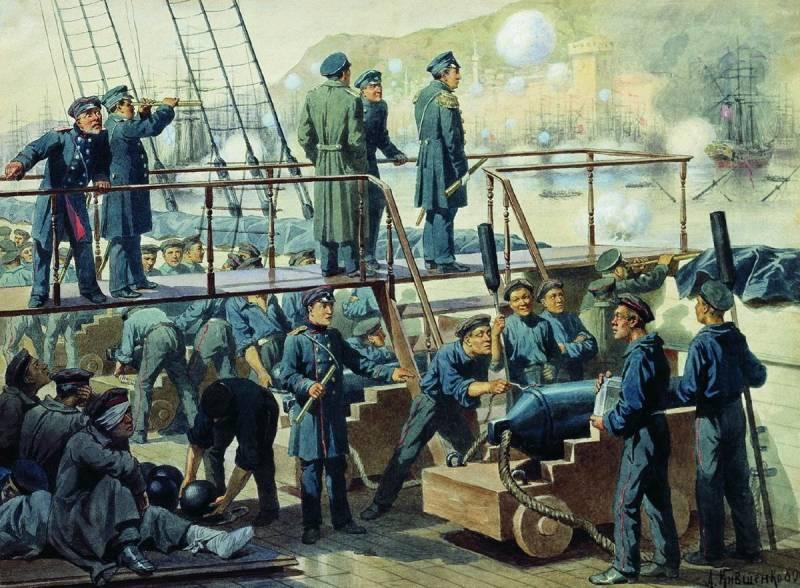 Уничтожение турецкого флота в Синопском сражении