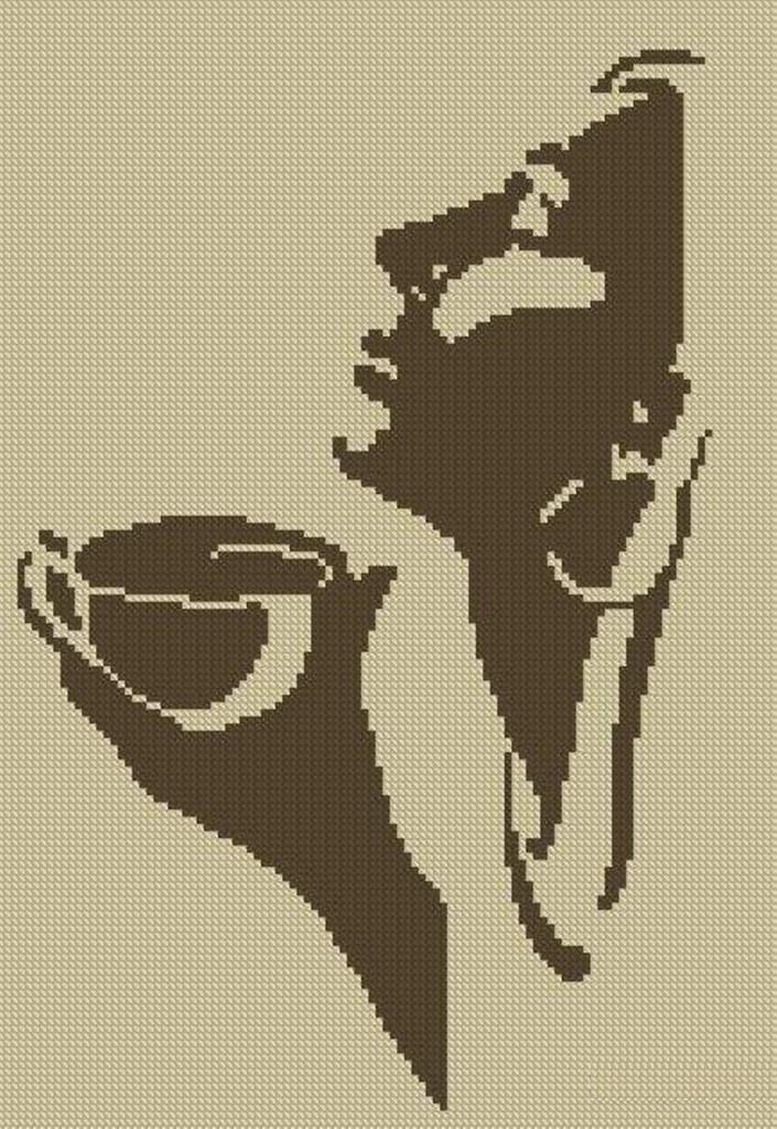Бесплатные схемы для вышивки крестом кофе