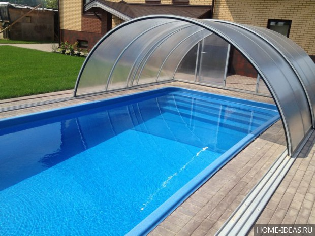 Чем накрыть бассейн на даче фото