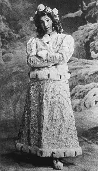 Н.И.Забела-Врубель в роли Снегурочки. Фотография 1900-х годов