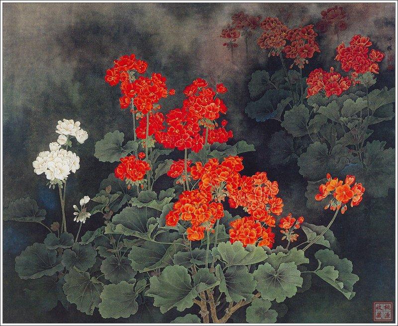 Цветы цветут сами по себе... Китайский художник Zhou Zhongyao