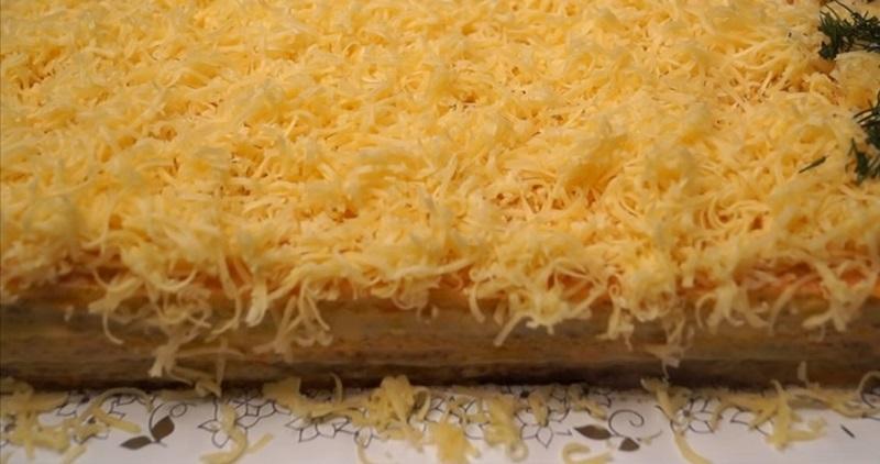 рецепт закусочного вафельного торта